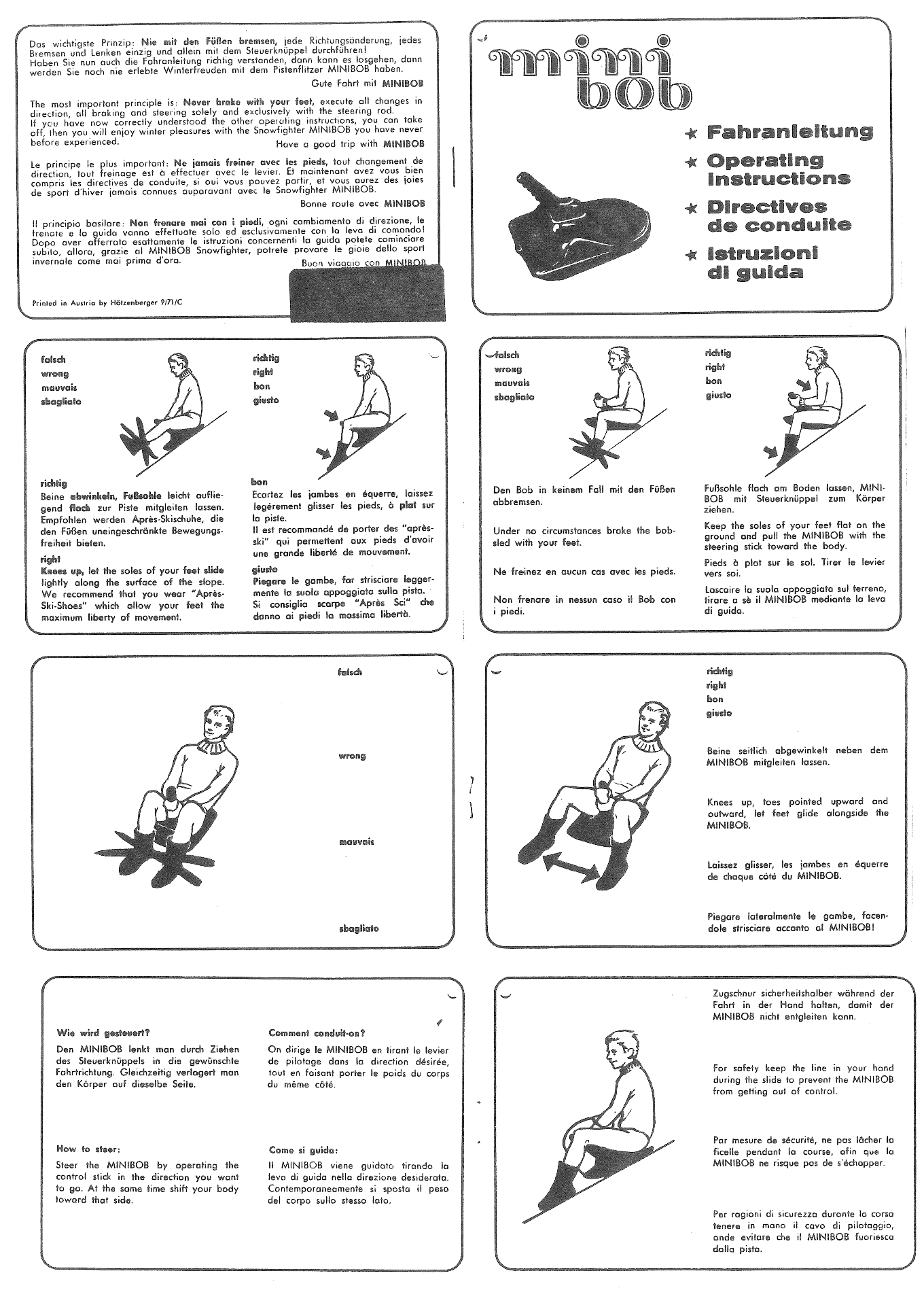 Historical driving instructions from 1970