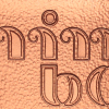 mini bob Logo Zipfelbob Sonderfarbe Bronze