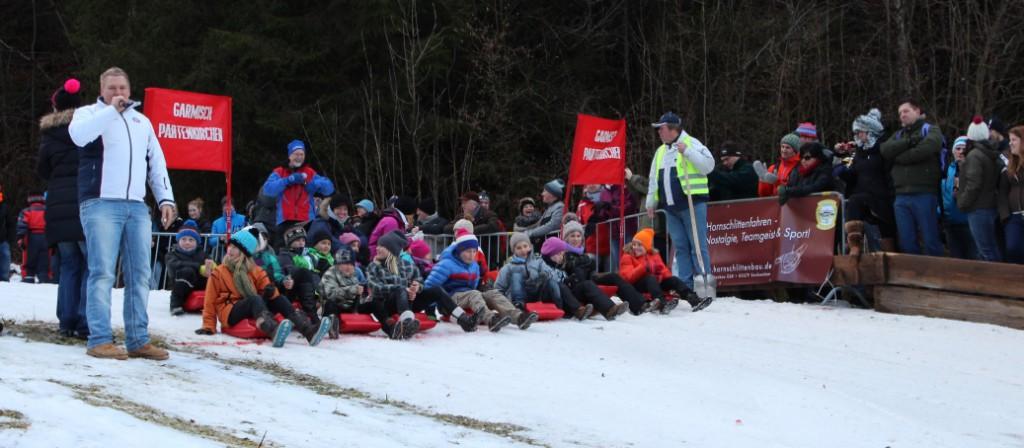 mini bob beim Hornschlittenrennen Garmisch
