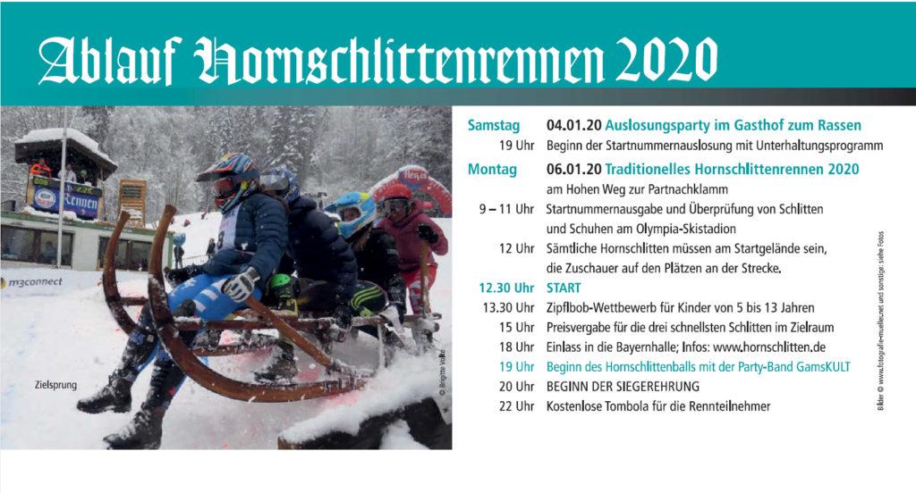 Garmisch Partenkirchen Ablauf Hornschlittenrennen 2020